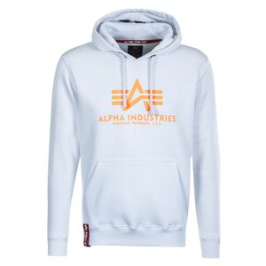 Alpha Industries Basic Hoody Herren weiß neon orange 178312 480 – Bild 1