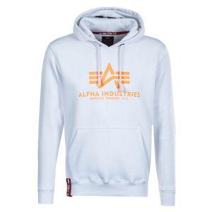 Alpha Industries Basic Hoody Herren weiß neon orange 178312 480
