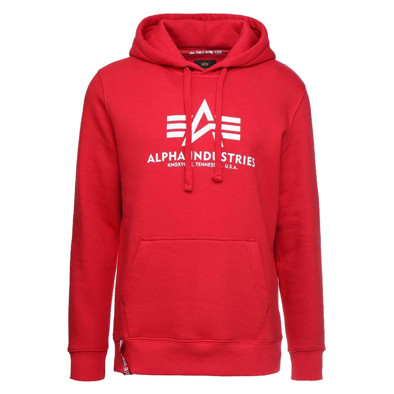 Alpha Industries Herren Basic Hoody speed red