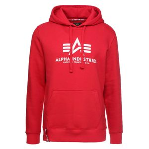 Alpha Industries Herren Basic Hoody speed red – Bild 1