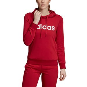 adidas Essentials Linear Over Head Hoodie Damen rot EI0653 – Bild 5
