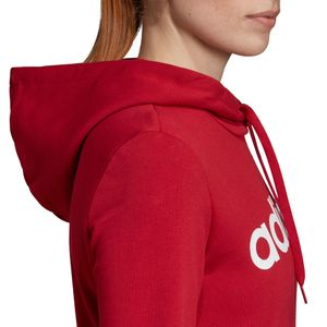 adidas Essentials Linear Over Head Hoodie Damen rot EI0653 – Bild 8