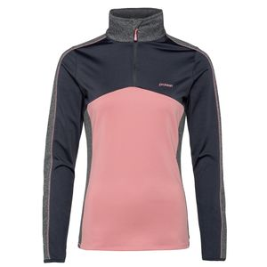 Protest Odense 1/4 Zip Top Damen Skirolli pink grau 3611492 719 – Bild 1