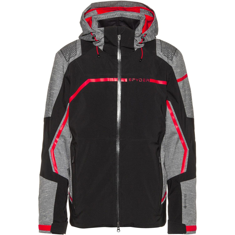 Spyder Titan Jacket Herren Skijacke schwarz grau rot 191020 001
