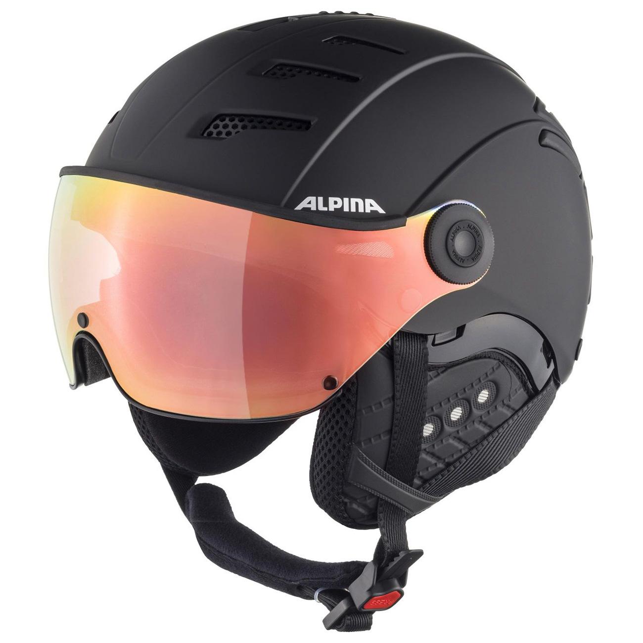 Alpina Jump 2.0 HM S1 Skihelm mit Visier black matt 59 - 61 cm