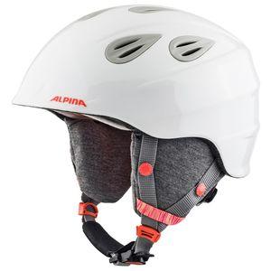 Alpina Grap 2.0 JR Skihelm weiß grau glänzend 54 - 57 cm A9086215 – Bild 1