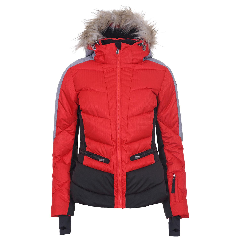 Icepeak Electra Damen Ski Winterjacke rot schwarz 4 53203 512I 645