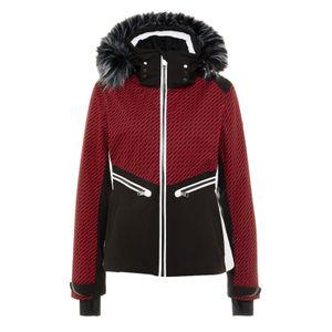 Luhta Janhua L7 Skijacke Damen schwarz rot weiß 434496 439 L7 650  – Bild 1