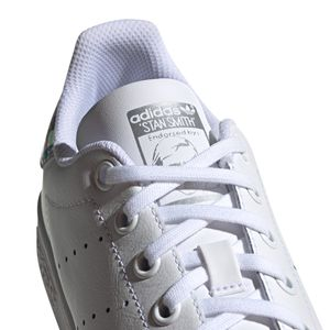 adidas Originals Stan Smith J Sneaker weiß Glitzer EE8483 – Bild 4