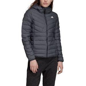 adidas Performance Varilite 3S Hooded Jacket Damenjacke grau DZ1520  – Bild 7