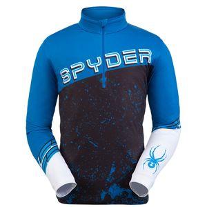 Spyder Mandate Zip T-Neck Herren Skirolli schwarz blau weiß 191263 408 – Bild 1