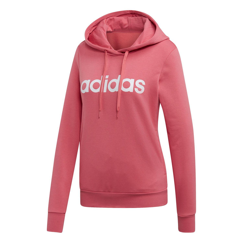 adidas Essentials Linear Over Head Hoodie Damen bliss pink EI0655
