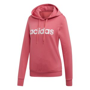 adidas Essentials Linear Over Head Hoodie Damen bliss pink EI0655 – Bild 1