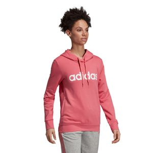 adidas Essentials Linear Over Head Hoodie Damen bliss pink EI0655 – Bild 2