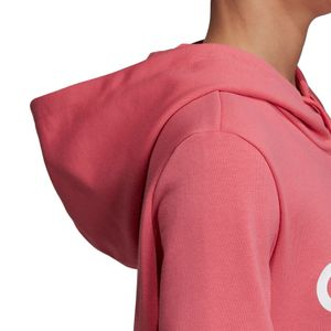 adidas Essentials Linear Over Head Hoodie Damen bliss pink EI0655 – Bild 6