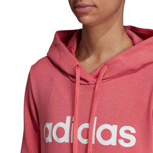 adidas Essentials Linear Over Head Hoodie Damen bliss pink EI0655 – Bild 8