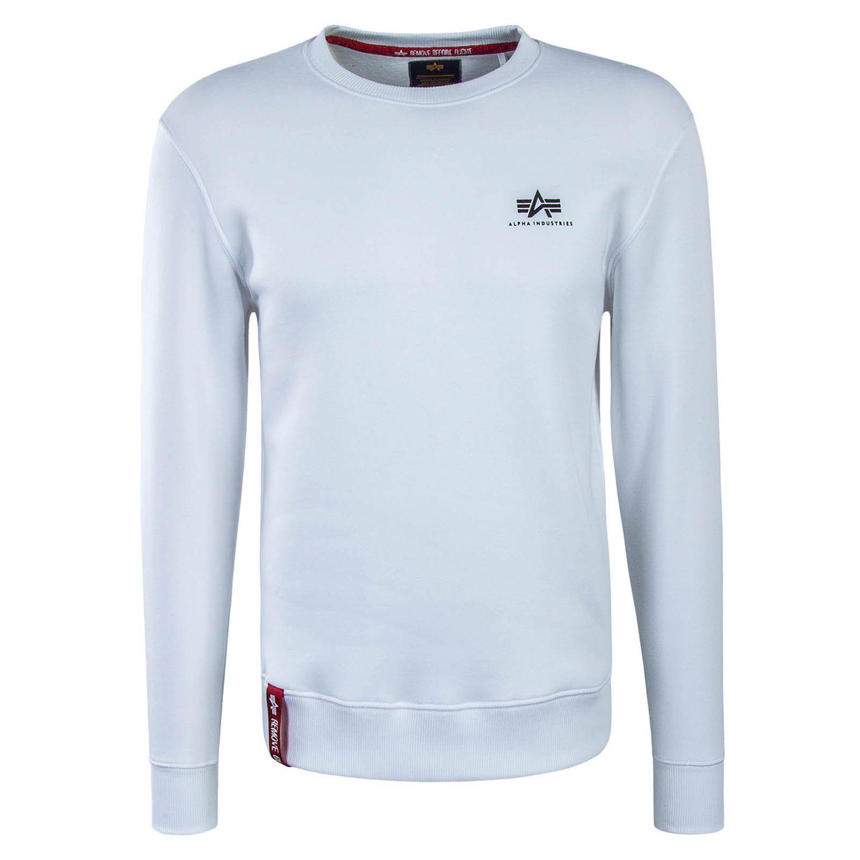 Alpha Industries Basic Sweater Small Logo weiß