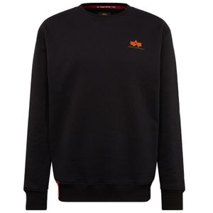 Alpha Industries Basic Sweater Small Logo Herren schwarz orange 188307 477