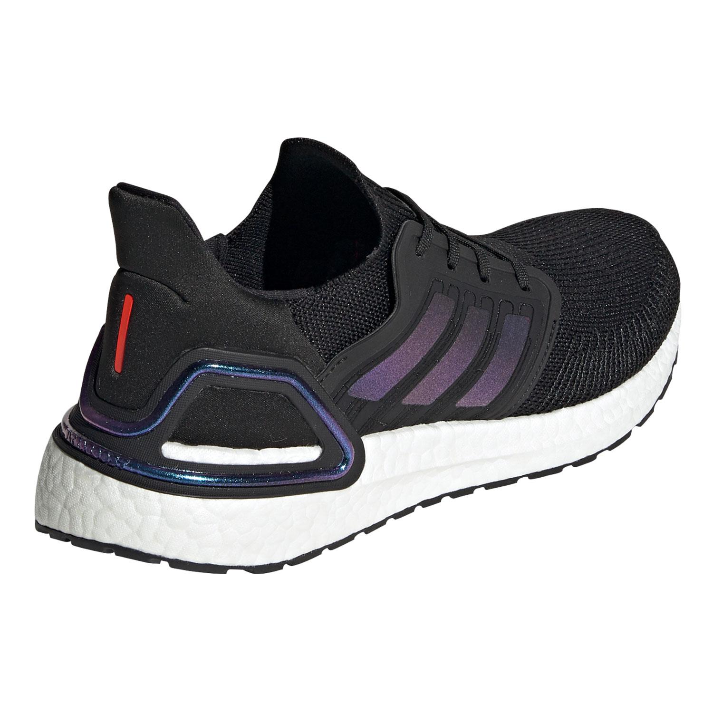 adidas Herren Ultra Boost 20 Running Sneaker schwarz lila