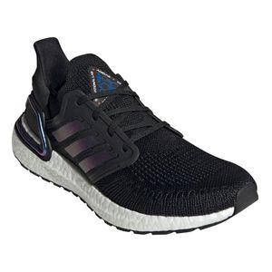 adidas Herren Ultra Boost 20 Running Sneaker schwarz lila weiß EG0692 – Bild 2