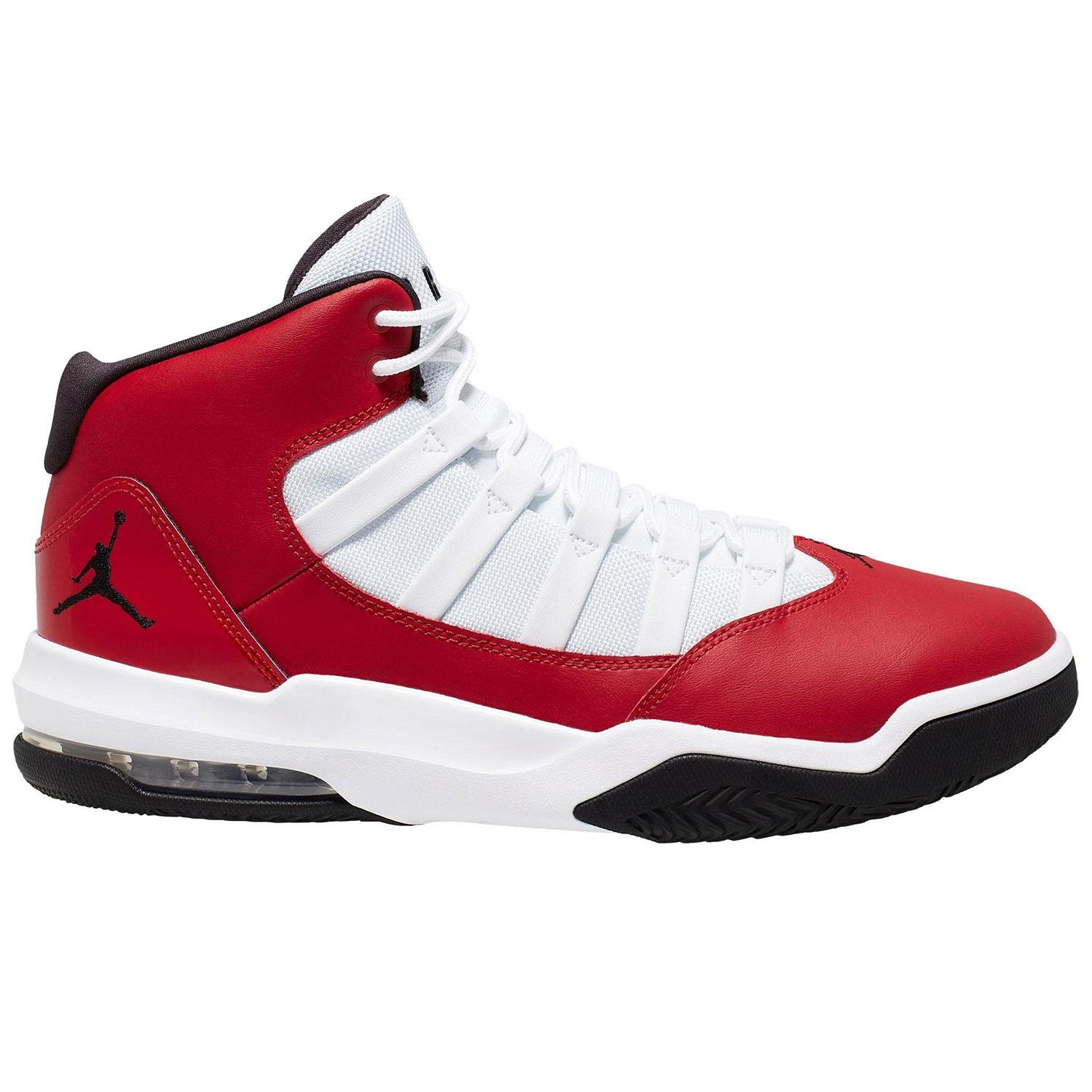 Jordan Max Aura Herren Sneaker rot weiß schwarz AQ9084 602