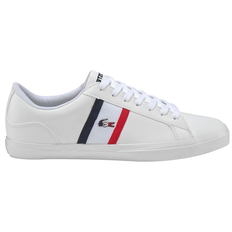 Lacoste Lerond TRI1 Herren Sneaker weiß blau rot