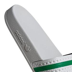 adidas Originals Adilette Badeschuhe hellgrau grün EG4946 – Bild 7