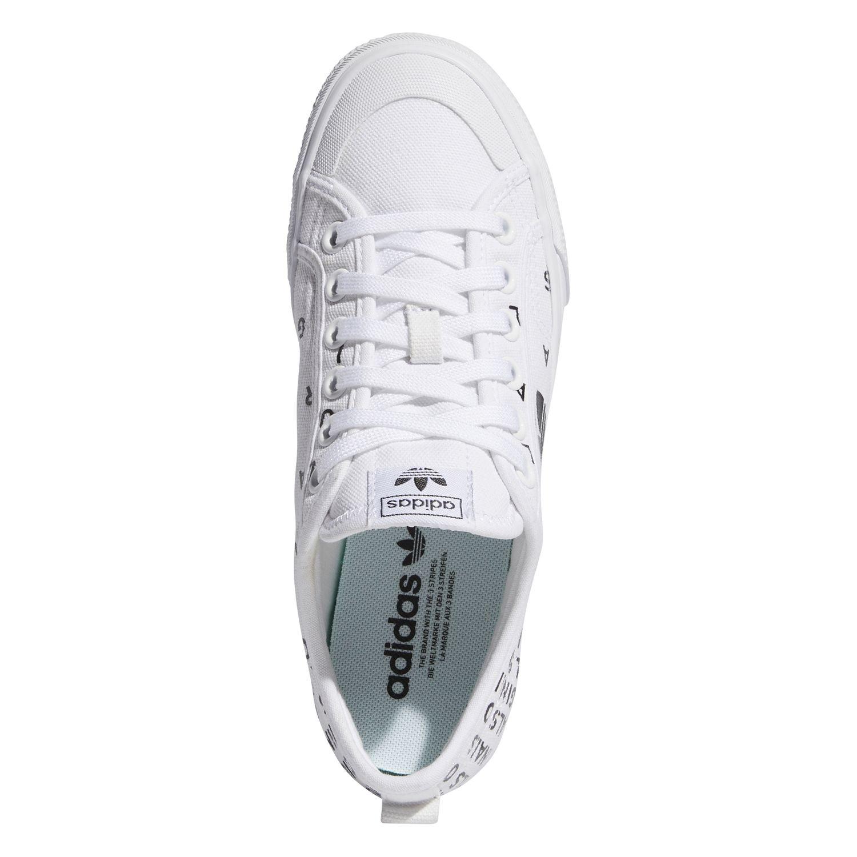 adidas Originals Nizza Trefoil W Damen Sneaker weiß schwarz