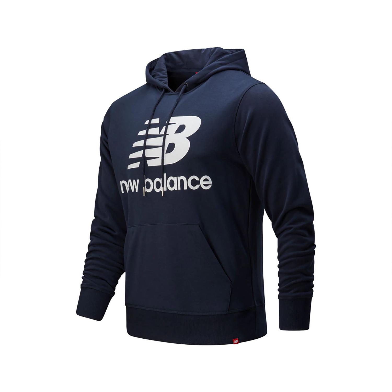 New Balance MT91547 ECL Herren Essentials Stacked Logo Hoody navy