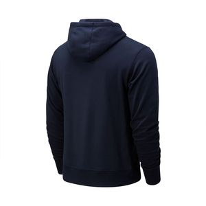 New Balance MT91547 ECL Essentials Stacked Logo Hoody Herren navy – Bild 2
