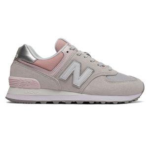 New Balance WL574SOT Damen Sneaker grau rose – Bild 1