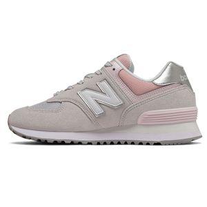 New Balance WL574SOT Damen Sneaker grau rose – Bild 2