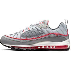 Nike Air Max 98 Herren Sneaker grau weiß rot CI3693 001 – Bild 2