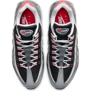 Nike Air Max 95 Essential Herren Sneaker grau schwarz rot CI3705 600 – Bild 4