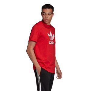 adidas Originals Trefoil T-Shirt Herren rot weiß FM3791 – Bild 3