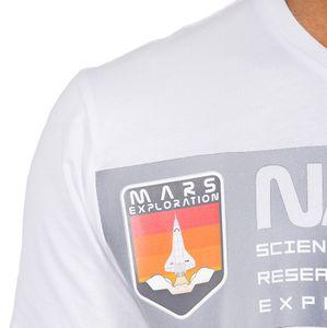 Alpha Industries Herren Mars Reflective T-Shirt weiß  – Bild 3