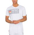 Alpha Industries Herren Mars Reflective T-Shirt weiß