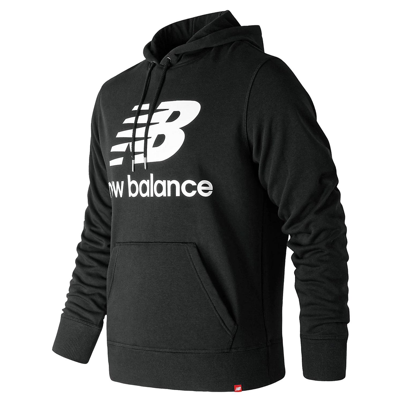 New Balance MT91547 BK Essentials Stacked Logo Hoody Herren schwarz