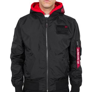 Alpha Industries Fliegerjacke MA-1 TT Hood Custom schwarz