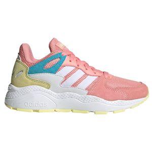 adidas Kinder CRAZYCHAOS J Sneaker pink weiß gelb  – Bild 1