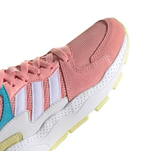 adidas Kinder CRAZYCHAOS J Sneaker pink weiß gelb  – Bild 8