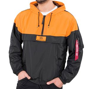 Alpha Industries Tape Anorak Herrenjacke schwarz orange 126131/429 – Bild 1