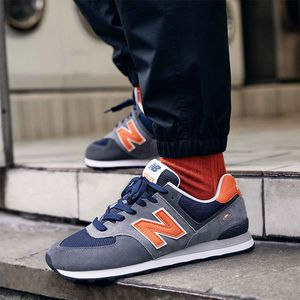 New Balance ML574EAF Herren Sneaker grau blau orange 774921-60 121 – Bild 5