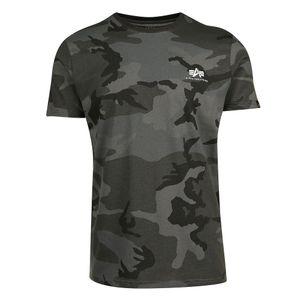 Alpha Industries Basic T Small Logo T-Shirt black camo 188505/125 – Bild 1