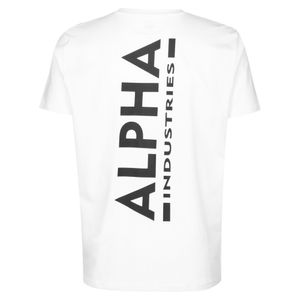 Alpha Industries Backprint T weiß schwarz Herren T-shirt 128507/09 – Bild 2