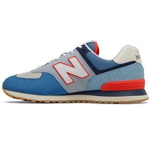 New Balance ML574SOS Herren Sneaker blau weiß rot 774941-60 5 – Bild 2