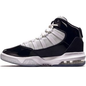 Jordan Max Aura GS Sneaker schwarz weiß – Bild 2