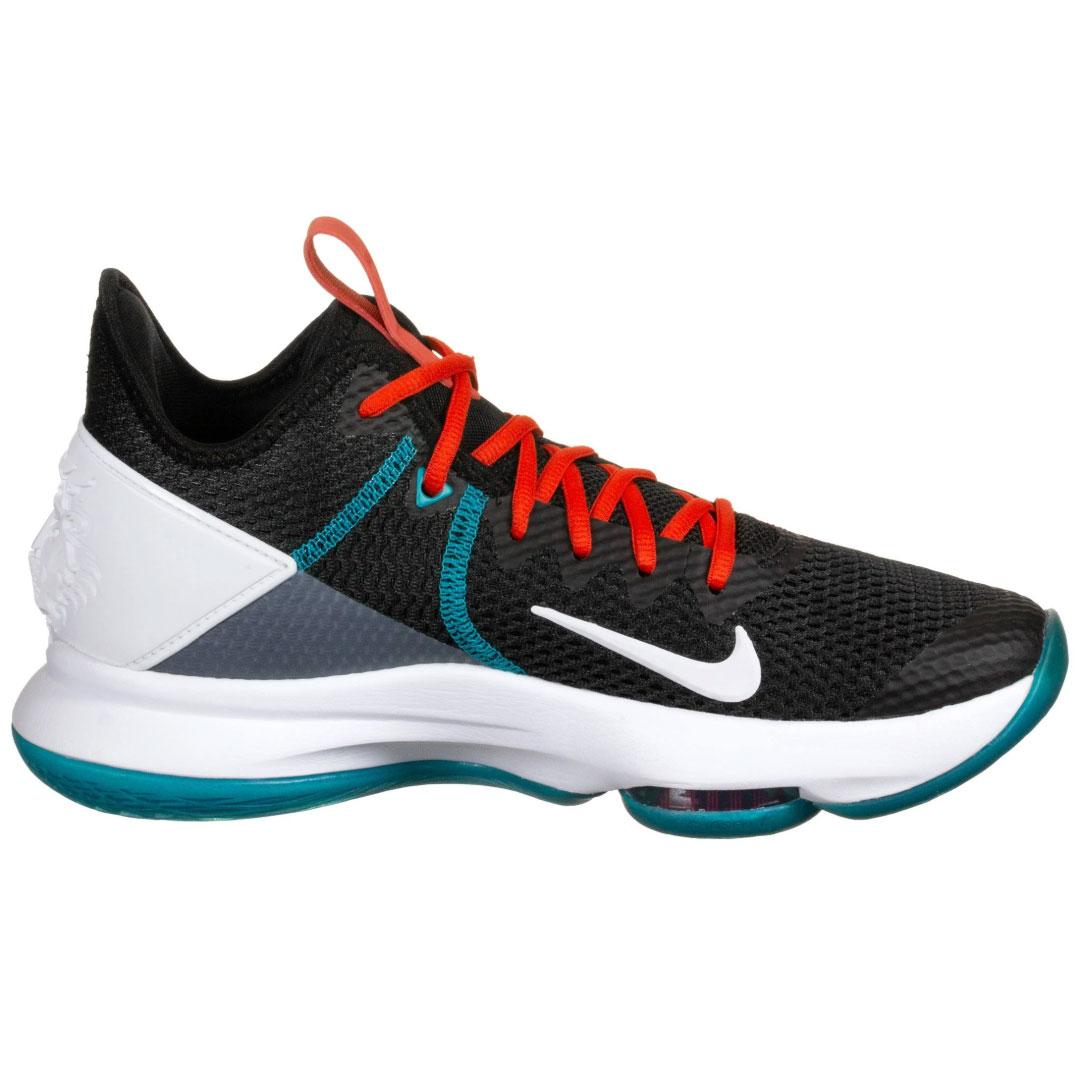 Nike Lebron Witness IV Basketballschuhe schwarz weiß türkis