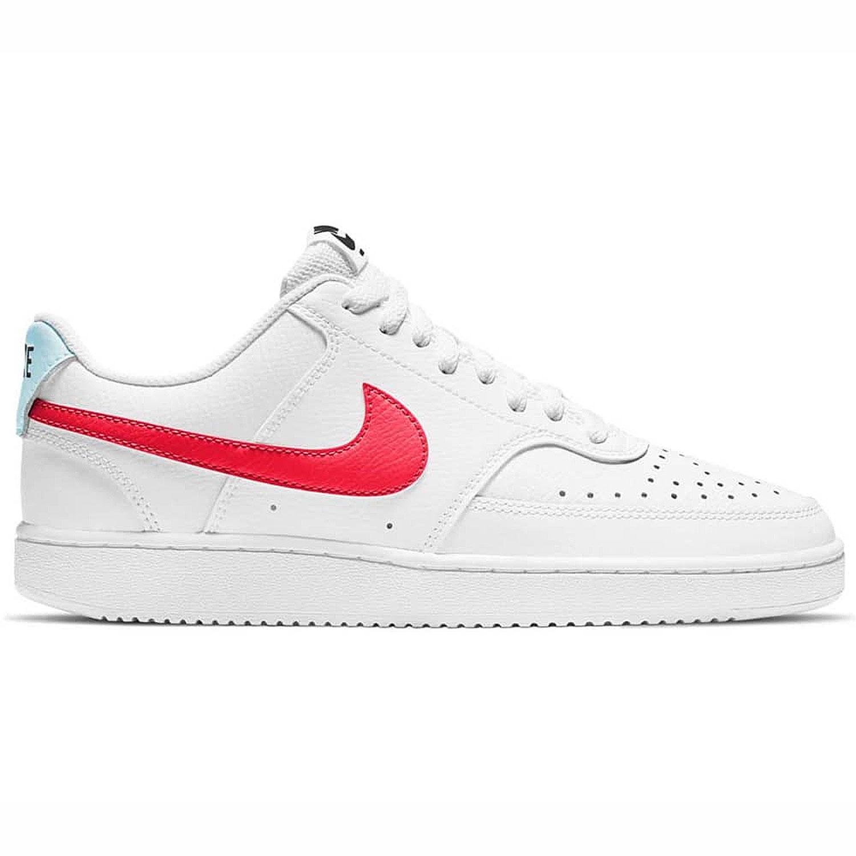 Nike WMNS Court Vision Low Damen Sneaker weiß orange CD5434 106