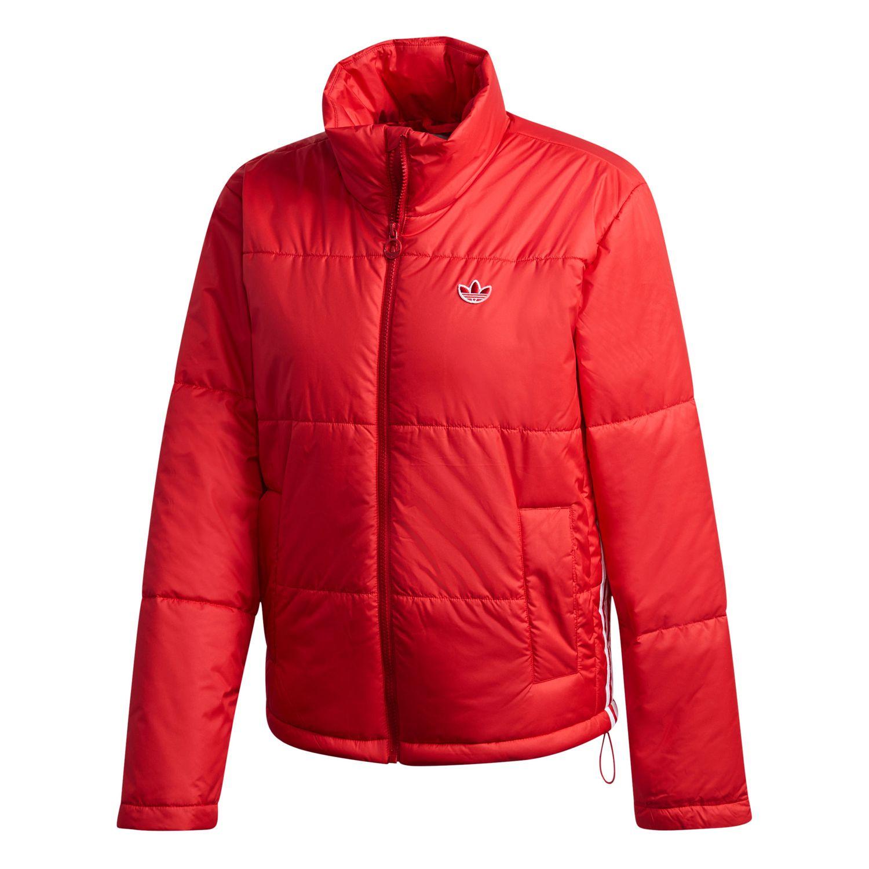 adidas Originals Short Puffer Damen Steppjacke rot weiß GK8556